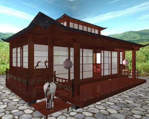 В дизайне по-японски мы придерживаемся минимализма и подбираем лишь нейтральную цветовую палитру.