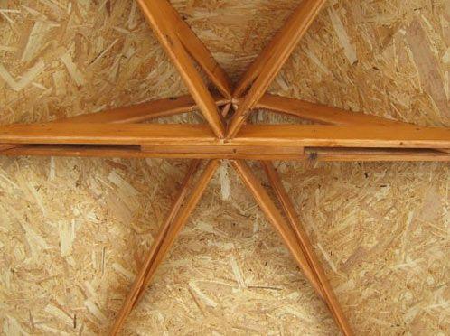 Вид крыши изнутри