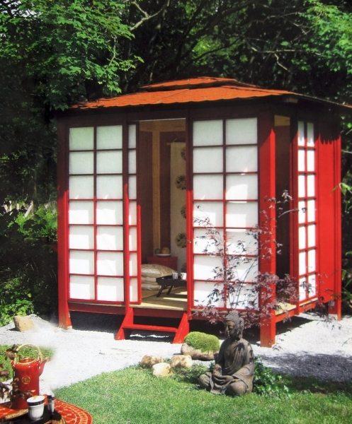 Японский стиль по-прежнему в большом почёте, компактность и идеальное проветривание – вот его отличительные черты