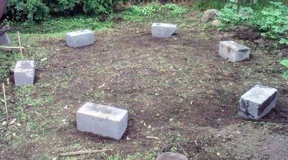 Закладка фундамента под шестиугольную конструкцию