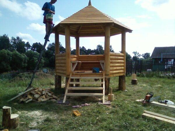 Защитная обработка деревянных частей