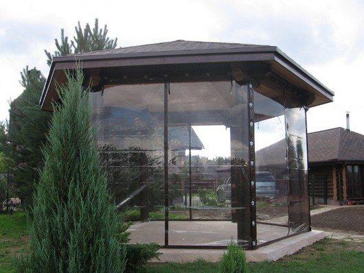 Защитные шторы из прозрачного материала ПВХ.
