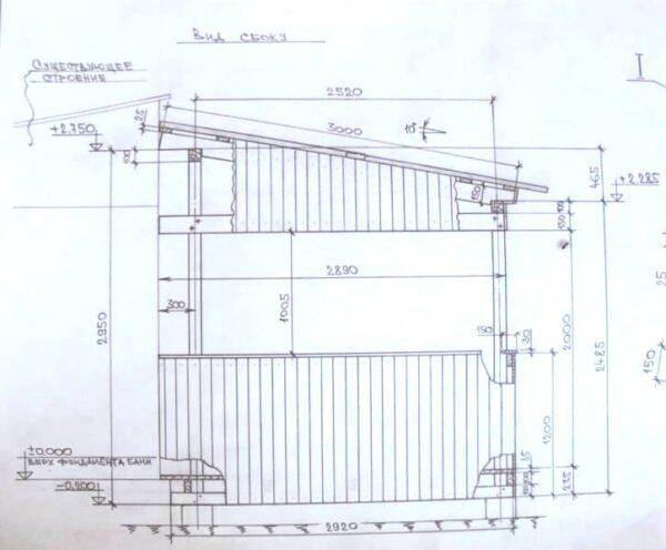Здесь вид сбоку – пусть это и простая деревянная беседка своими руками, но все детали конструкции определены совершенно однозначно (рисунок «С»)