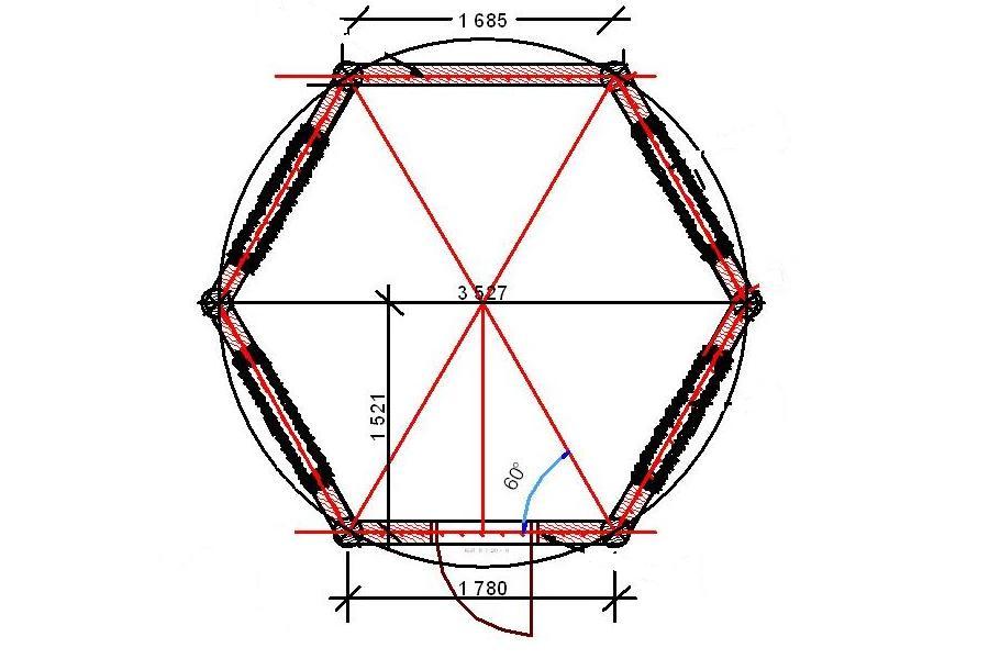 Беседка шестиугольная своими руками чертежи фото