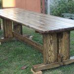 Деревянный стол для беседки своими руками