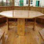Дизайн стола для беседки