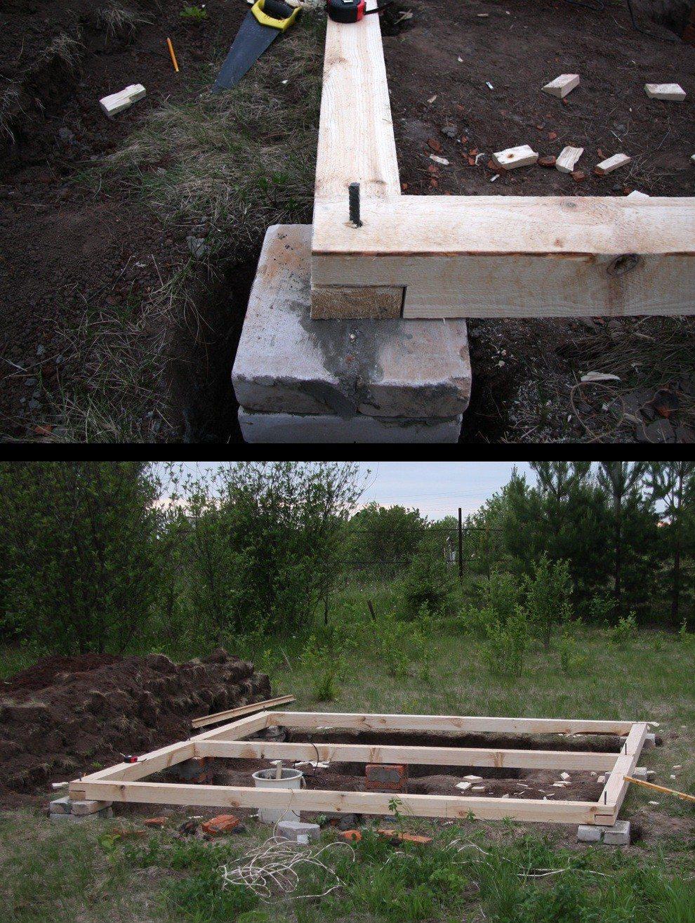 Для строительства деревянной беседки вполне достаточно столбчатого фундамента