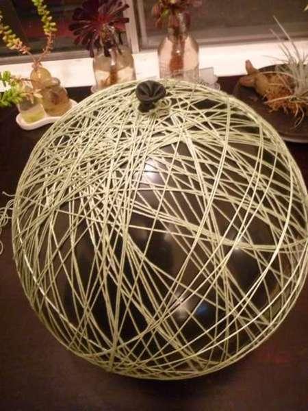 Из веревки абажур для люстры делается легко и просто