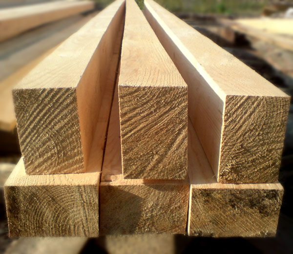 Изделия из древесины продаются погонными метрами