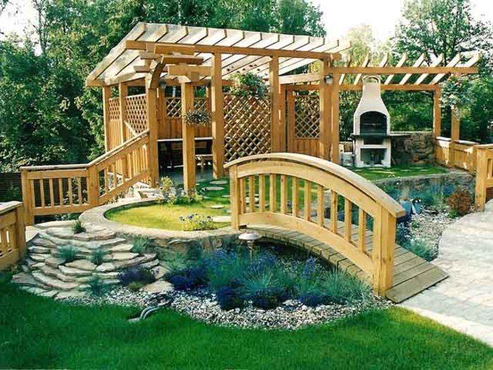Дизайн около беседки фото - 100 идей дизайна для садовой беседки: проекты дачных
