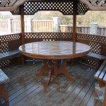 Круглый стол для беседки