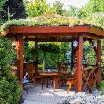 Летняя беседка на садовом участке