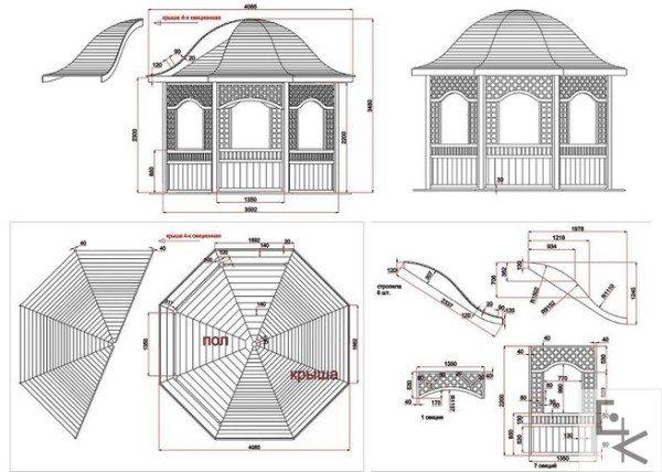 Любой проект должен включать в себя размеры всех деталей строения.