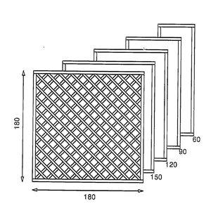 Отображение готовой решетки из дерева размером 180x180 мм.