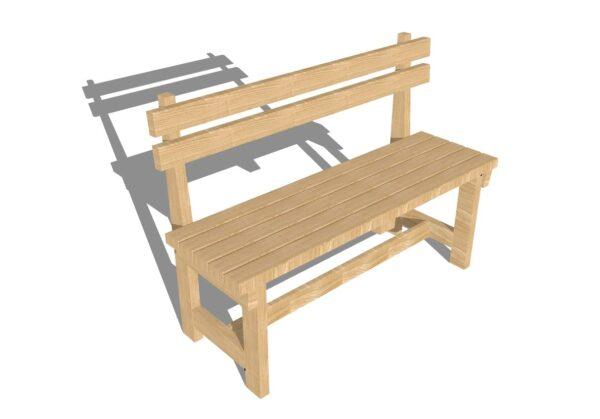 Простая в исполнении, но очень привлекательная скамейка в беседку