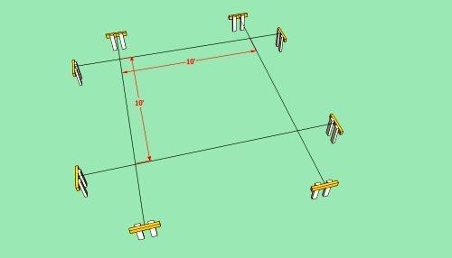 Схематическое изображение разметки участка.