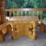 Скамейки и стол для беседки