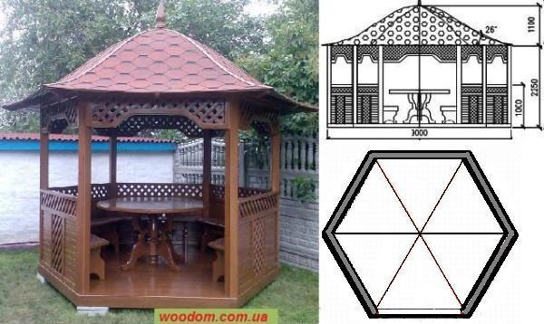 Сооружение с круглым столом.