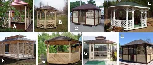 Строительство деревянных беседок и их стоимость во многом зависят от конструкции крыши