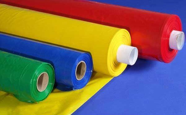 Цветной ПВХ материал.