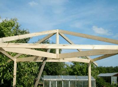 Как сделать четырёхскатную крышу беседки своими руками