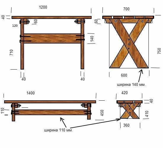 Как своими руками сделать скамейку на дачу